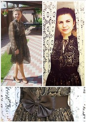 Loredana Oprea - H&M Animal Print Dress, Stradivarius Brown Bag, Local Store Brown Belt, Bb Up Cream Shoes - Animal print
