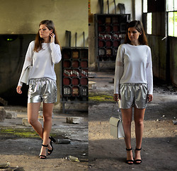 Aurelia K. - Shorts   Sewed By Me, H&M Top   + Diy, Zara Bag   - Silver shorts