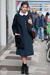 Daria Cimoroni - Cos Jacket, Vintage Dress, Stiù Shoes, Vintage Bag - My Milan Fashion Week (outside Prada)