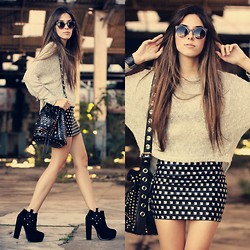 Flávia Desgranges van der Linden - Lovellysaly Skirt, Antix Jumper, Zerouv Sunglasses, Iclothing Bag - Stud My Life