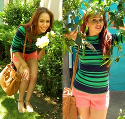 Terry Berry - Claires Hoops, Cynthia Rowley Striped Tee - Summer Watermelon