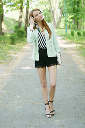Martyna Janus - Zara, Oasap, Stradivarius, Mosquito - Mint and stripes!