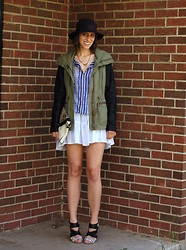 Kate Schneider - Forever 21 Hat, Forever 21 Jacket, Justfab Heels - Summer layers