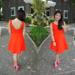Lea Esguerra - Zara Dress, Solemate Pink Ballet Flats - That orange dress