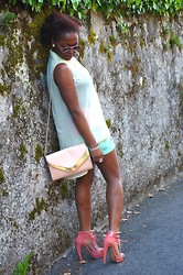 SGTURNINGPOINT.COM - Jeffrey Campbell Orange Tawny Heels, Forever 21 Sheer Top, Zalando Rose Skirt, Bershka Bag, Ray Ban Pink Aviator - Oh My Jeffrey!