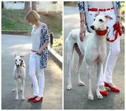 E Maille - Anthropologie Cardigan, Stylemint T Shirt, Hermës Bangles, Mango Jeans, Pour La Victoire Flats - Handsome hound