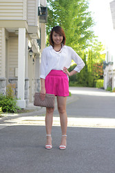 Janelle A - Forever 21 Shorts, Forever 21 Top, Zara Ankle Strap Heels, Miu Purse - New Direction