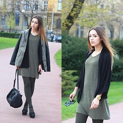 Ana K. Psycho Couture - Alexander Wang Bag, Zara Sandals, S.Oliver Jacket - Army green