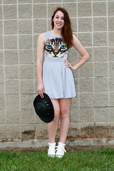 Lauren S. - Love Dress, Forever 21 Hat, Topshop Socks, Urban Outfitters Platforms - Wake Me Up