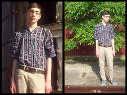 Aaron H. - Handmade Bullet Belt, Guatemala Guatemalan Shirt, Levi's® Khakis - There's something about this summer.