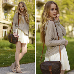TIPHAINE MARIE - Chic Wish Skirt, Louis Vuitton Bag, Ash Footwear Wedges - HELLO SUMMER