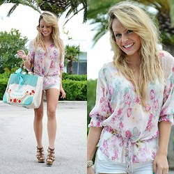Eleonora Petrella - Pomikaki Bag, Aldo Wedges, Zara Floral Shirt - Waiting for summer
