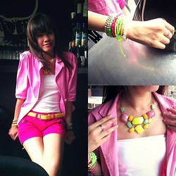 R.A. Basilan - The Purple Butterfly Blazer, Ai Fashion Arm Party, Ekame Items Candy Necklace - Lunch Date with my BFF ♥