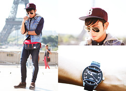 Miko Carreon - Topman Cap, Topman Denim Vest, Herschel Supply Belt Bag, Superdry Watch - Bucketlist