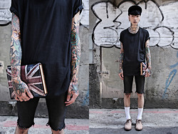 IVAN Chang - Snupped Bag, Topman Top, Topshop Skinny, Uniqlo Sock, While Shoes - 080613 TODAY STYLE