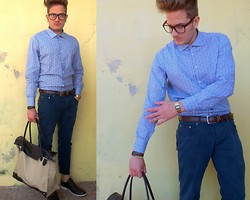 Emanuele Amicucci - Vintage Shirt, Zara Pants, Vintage Bag, Shoes - Floreal shirt!