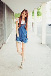 Jae D - Tee, Overalls, Wedges - - if it was that easy