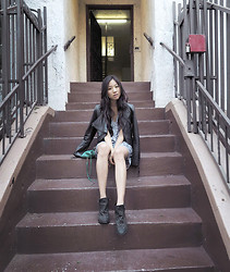 Angela Lee - H&M Dress, Urban Outfitters Ankle Boots - Step by Step