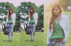 Camille Sioco - Market City, Sydney Leather Jacket With Studs, Hana Secret Green Crochet Top, Kakamee Acid Wash Jeans, Jeffrey Campbell Fosy Spikes, Louis Vuitton Speedy 30 - Captivated by Nature