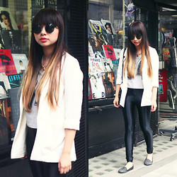 Van Anh L. - H&M Blazer, H&M Crop Top, New Look Disco Pants, Primark Flats - Disco Pants