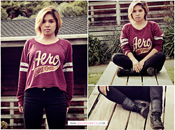 AUIE Robrigado - Aeropostale Jumper Top, Rocboots - Finding peace, not just happiness