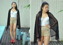Natalie Chui - Jeffrey Campbell Foxy, H&M Shorts - TEENAGE SUICIDE (don't do it)