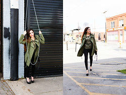 Melody Danian - Willow & Clay Jacket, H&M Army Tank, Forever 21 Leggings, Steve Madden Heels - Alone
