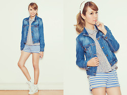 Tricia Gosingtian - Just G Jacket, Just G Top, Just G Shorts, Korean Cravings Shoes - 061013