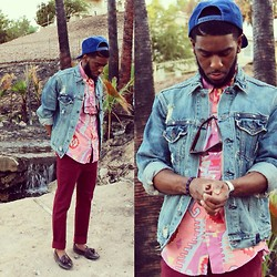 Chad Johnson - Levi's® Denim Jacket, Wrangler Western Shirt, Topman Chino, Cole Haan Tassel Loafers, Casio Digital Watch - Western