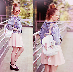 Wioletta Mary Kate - Choies Jacket, Iclothing Dress, Parfois Backpack, Papilion Shoes - Summer Vibes #2