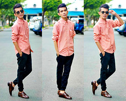 Russel Manalastas - Burberry 2nd Hand, Bossini, Brogues Shoes - 1 YEAR on LOOKBOOK