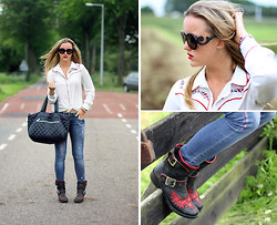 Linsey Sijmons - Prada Sunglasses, Primark Blouse, Chanel Bag, Eden Schwartz Jeans, Mexicana Shoes - IT'S A COWGIRL THING