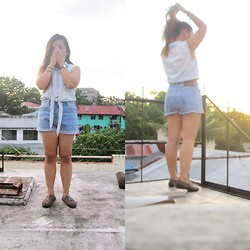 Nadin Magbiray - Diy Shorts, Thrifted Cropped Top - Sunshine After The Rain