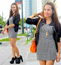 Julie Lozada - Pink Fashion Dress, Primadonna Shoes, Sm Parisian Satchel Bag, Wholesale Dress.Net Blazer - B & W at BU5