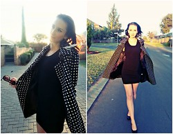 Rita Schalkwyk - Yde Polka Dot Coat, Yuka Black Dress - Smoke in Mirrors