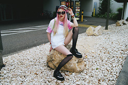 †Norelle Rheingold† - Diy Cap, Diy Furby Tie Dye Tee, Diy Moody Sunnies, Thrifted Overall, Tuk Creepers - -[Paste a Line of a Brilliant Nirvana Song]-