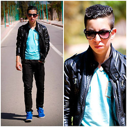 Hamza Benyahya - H&M Jacket, Diesel Black Jeans, Adidas Neo Addidas Blue - Give a thing, and take a thing
