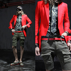 INWON LEE - Balmain Red Jacket, Byther Pants - Make your own style