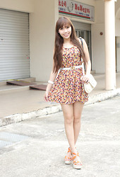 Esther Xie - Lyra Minn Dress, Orange Wedges - Every Summer Has A Story