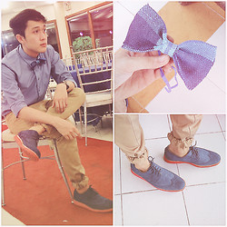 Leo Miguel Rivera - Givenchy Button Down, Bench Pants, Diy Bowtie, Milanos Shoes - One Last Time