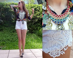 Julia C. - Promod Necklace, H&M Shorts, Asos Shirt - Lost in paradise