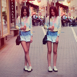 Nora Aradi - Choies Shirt, Choies Shorts, Dr. Martens Boots, Asos Watch - Matchy