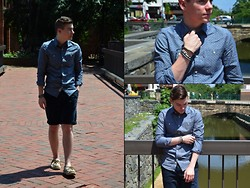 Ryan Charchian - Jack Wills Buttonup, Jack Wills Shorts, Sperry Top Sider Boat Shoes - Georgetown Blues