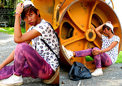 Dyosa Urquia - Titicaca Colorful Skull Printed Tee, Converse Sneakers, Diy Pants - If theres a WHEEL theres a WAY..haha