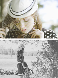 Esther Boller - Thrifted Vintage Hat, Forever 21 Polka Dot Sweater, Forever 21 White Belt, Esther From The Sticks Handmade Skirt - Boy, maybe I think you're cute and funny
