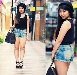 Jennifer V - Mango Shoes, Zara Hat - Sunny day ~