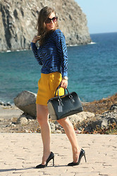 Luba { Well Living Blog } - Michael Kors Sweater, Furla Bag - Blue zebra