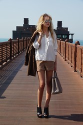 Sasha Fashion - Tobi Shorts, Givenchy Shoes, Prada Bag, Topshop Blouse - Safari
