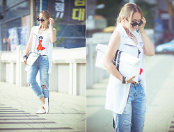 Olga Choi - Sheinside Vest, Choies Clutch, Zerouv Glasses, Imomoi Bracelet, Shabana Khan Necklace - Feel more like casual