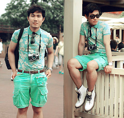 KIKO CAGAYAT - Uniqlo Mint Floral Polo Shirt, Versace Wayfarer, Ralph Lauren Shorts - Mint to be